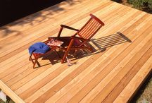 Cedar Decking / Western Red Cedar is the top choice for a long lasting, beautiful and economical deck.  Don't be fooled by good looking composite decking, they just don't last and you can't get this look!