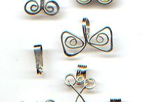 Wire jewelry components