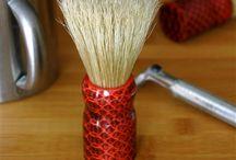 Shaving Brush with Natural Bristles / Handcrafted shaving brushes with natural bristles and elegantly styled handles.