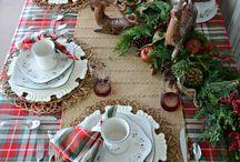 christmas decorations table settings