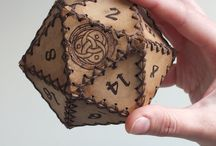 I miei d20 - My d20 handmade leather dice container.