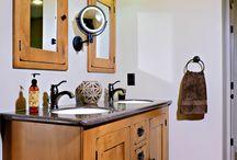 Full Bath Remodel / Master Bath Remodel Millsboro, DE.  Starmark Cabinetry l Lint Tile Floor & Shower Surround l Corian Countertop & Shower Accent pieces www.bsdshowroom.com #bsdshowroom