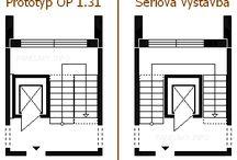 Model výtahu