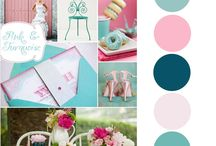Turquoise and magenta party