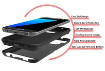 GALAXY S7 CASE PUNKCASE SLOT SERIES ! / Galaxy s7 Case PunkCase SLOT Series for Galaxy s7 Slim Protective Armor Soft Cover Case w/ Tempered Glass Protector Lifetime Warranty Made with a slim full TPU body for heat reduction and shock absorption. Maintains the aesthetics of your phone while keeping it protected, with the option of a Credit Cards holder on the back Ultimate protection with precision cut outs for easy access to all ports and jacks but without the bulkiness.