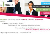 We are Resource Infinite / The Selection and staffing of right employees secures the organisation's productivity and performance.