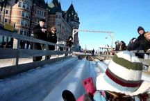 Glissade/Tobogganing - Terrasse Dufferin / by Fairmont Le Château Frontenac