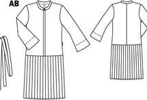 PPC - Robe chemisier et portefeuille / Divers patrons de robe type chemisier ou portefeuille