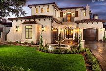 Fachada de casas de lujo