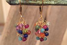 Great gemstone earrings