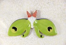 Pretty Little Bugs / My ceramic bug collection....moths and cicadas.
