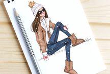 Fashion design illustrations