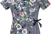 Fabulous Fall Prints - Seasonal Scrub Tops / It's time to think about refreshing your #scrubs wardrobe. Look at the gorgeous prints.