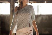 bluzeczki na drutach