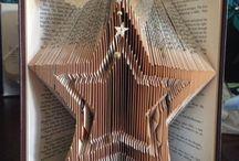 бумажный арт складывание страниц книги в технике оригами