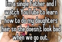 Daddy and Daughter / Daddy daughter date ideas, hair, clothes, makeup and fun