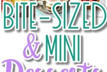 Mini desserts/cakes/tarts