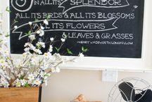 Ideas for chalkboards ...