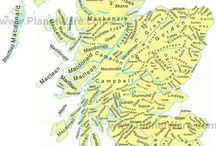 Map of Scottish Clans
