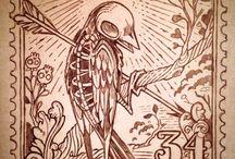 dessin corbeau