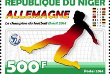 New stamps issue released by STAMPERIJA | No. 413 / NIGER 01 08 2014 - BRAZIL 2014 - CODE: NIG_FOOTBALL