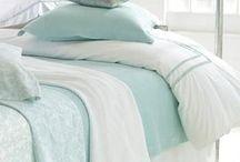 Spring Bedroom Refresher! / seafoam + ivory + white + sand + gold.