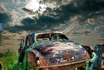 Rusty old cars