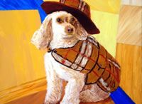 John-Norman Tuck Pet Portraits / These are photos of commissioned pet portraits that I painted.