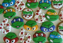 TMNT / Ninja Turtles cookies, party ideas, etc
