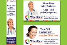 Our Healthcare & Tech Advertisments / A collection of print and online advertisement designed by Clarity Quest Marketing.