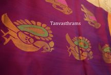 Designer Sarees - Indian Elegant and  Unique Women Sarees / This board constitutes of differently designed sarees which every Indian woman loves to wear. It showcases sarees created by Tanvasthrams out of different fabrics like Kanjeevaram Silk, Pure Cotton, Uppada silk, Pure Raw silk, Banaras/ Banarasi, Kalamkari and designer work sarees.