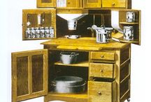 Hoosier Cabinets / I've always been fascinated by Hoosier and other similar cabinets for their beauty, simplicity and features packed efficiently into a tidy and relatively small space.  / by Marilyn Scheu