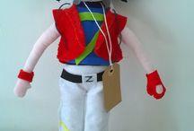 Bambole famose / doll/Cloth doll/Handmade doll/bambole