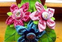 Textil virágok, csokrok - Flowers  (my works) (#handmade) / Filcből és textilből készített egyedi virágok és csokrok minden alkalomra. Rendelhetők is! :)