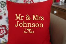 Embroidered Cushions / Beautifully embroidered cushions and pillow cases.  Personalised as you desire for a unique Anniversary Gift, Wedding Gift, Birthday Gift or Christmas present!