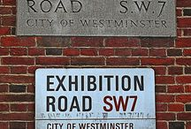 London Street names/signs