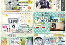 Scrapbooking - Captured Memories / Project Life / Inspo and Templates using CTMH Photo Life or Kaisercrafts Captured Memories.
