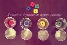 1 an - Montessori / Reggio / Activités Montessori / Reggio  pour les tout petits bébés 1 an Jeux d'éveils pour les enfants Nido Montessori Pédagogie alternative éducation bienveillante