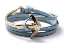 Half-anchor cuff bracelets