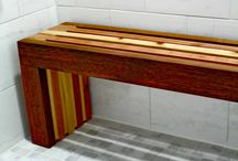 Sauna Benches / Fine Quality Garden Furniture -- Our Cedar Sauna Benches are designed to add charm where ever they are used in the Sauna room, around the pool , on the deck and in the backyard.  The easy design perfectly adds extra seating where ever it is used.  They are nicely handcrafted from Western Red Cedar, which is built to last. Different Style cedar sauna benches or pool benches, perfect for sauna rooms. Buy at www.CoolPointLanding.com
