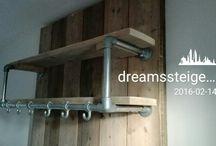 meubels van steigerhout / Pilaar van steigerhout