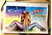 Day and night they are sisters