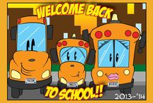 School Bus Trading Cards
