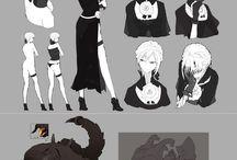 Girls - anime/art
