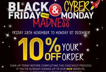 BLACK FRIDAY & CYBER MONDAY / Sign up now to join in the madness! Receive 10% over the Black Friday & Cyber Monday Weekend