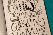 Learning Lettering! / Learning fonts & fun ways to write! / by Emily Finck