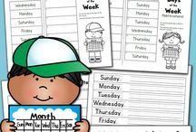 Preschool - Printables - Calendar