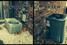 Before and After / Pictures of old systems before we replace them and after our work is done!