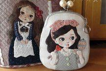 Bolsas bonecas japonesas