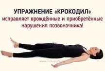 Упражнение для позвоночника.